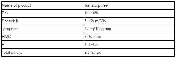 tomato-puree-specification